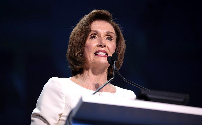 Pelosi Attacks Trump Ban, Supports Universal Basic Income