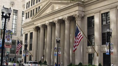 https://commons.wikimedia.org/wiki/File:Federal_Reserve_Bank_of_Chicago,_Chicago,_Illinois_(9181618932).jpg